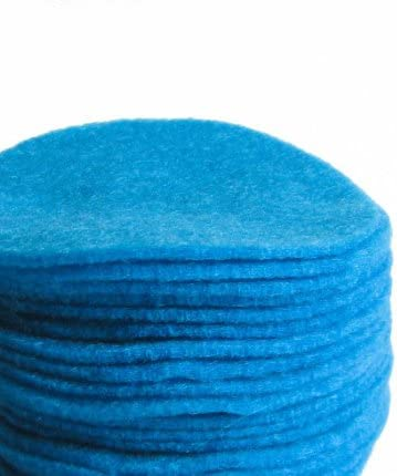 Nakpunar 1 inch Peacock Turquoise Felt Circles 100 Pieces