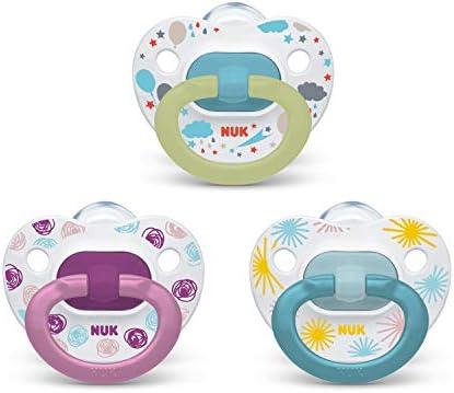 Amazon.com: NUK - Chupete ortodóntico, 3 piezas, para niña ...