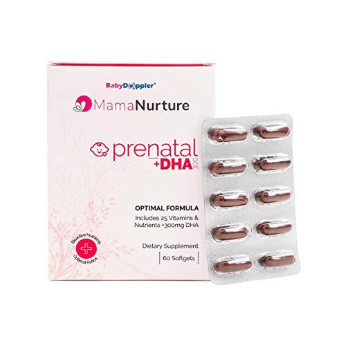 MamaNurture Premium Prenatal Vitamins DHA – 60 softgels by Baby Doppler