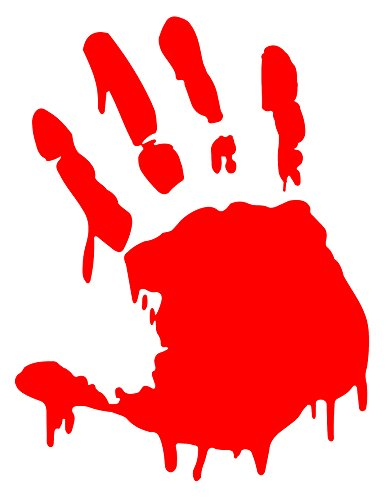 BLOODY ZOMBIE HAND PRINT(Right Hand) - 5.5