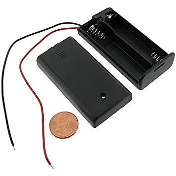 41vfTxN9BTL._SY355_ amazon com dsyj battery holder for 2aa battery w wires and switch