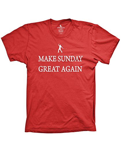 Make Sunday Great Again Funny Golf Shirt Donald Trump Parody Tshirts, (Tiger Woods Shirt)