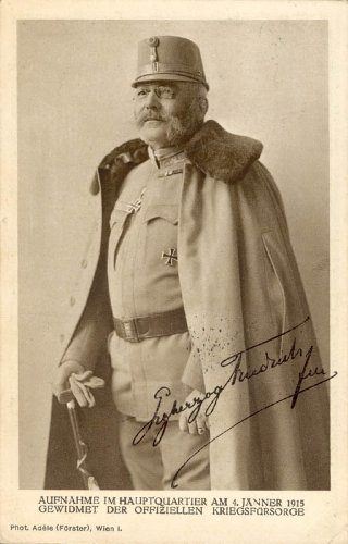 Archduke Friedrich (Austria) (Duke Of Teschen) - Picture Post Card Signed Circa 1915