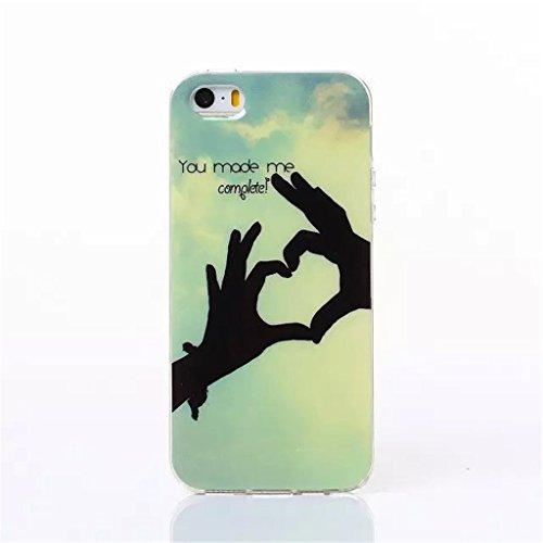 iPhone 5S Coque , iPhone 5s iPhone 5 Coque Lifetrut® [ You Made Me Complete ] [Coussin d'air] [Capsule] TPU souple ** Slim Case TPU Charm NOUVEAU ** Prime Trendy flexible couleur Soft Style Coque Etui