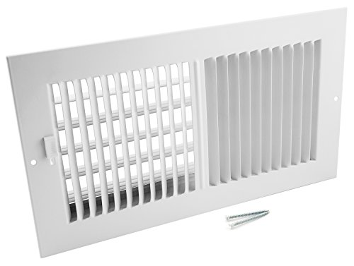 Accord AASWWH2126 Sidewall/Ceiling Register with 2-Way Aluminum Design, 12-Inch x 6-Inch(Duct Opening Measurements), White by Accord Ventilation (Image #2)