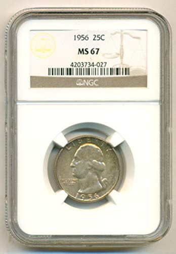 1956 Washington Quarter MS67 NGC