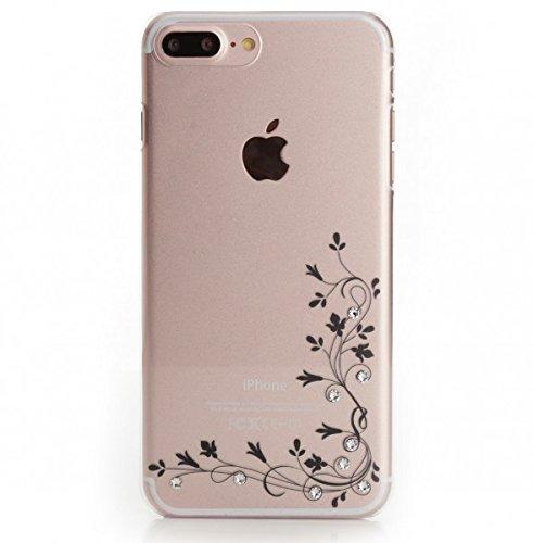 iPhone 8 Plus Silikon Hülle, Arktis Luxus Soft Case mit Swarovski Steinen - Climbing Plant