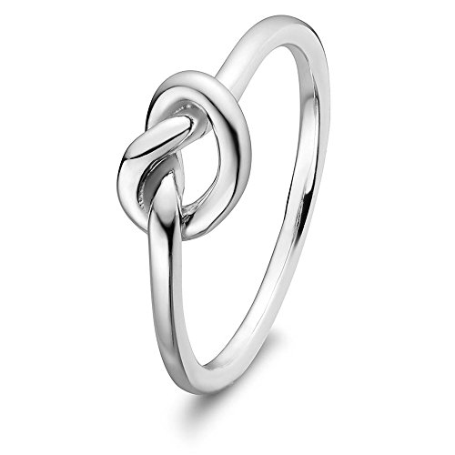 Sterling Silver ULS 15255 Love Knot Promise Ring