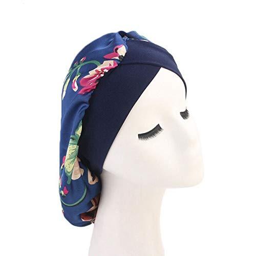 874529b0d2e5b Women Satin Lined Sleep Bonnet Hair Cap Sleeping Slouchy Hat Slap Headwear  for Curly Frizzy Hair