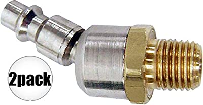 "Coilhose 15-04BS-DL 1/4"" NPTM Air Tool Swivel Coupler Connector 2-Pack"