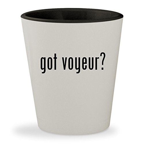got voyeur? - White Outer & Black Inner Ceramic 1.5oz Shot - Vids Se