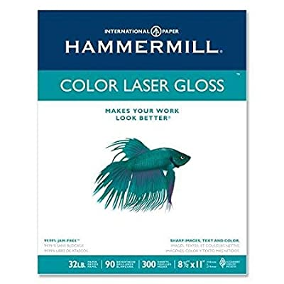 "Color Laser Gloss Paper,32 lb,94 GE/101 ISO,8-1/2""x11"",WE, Sold as 1 pack"