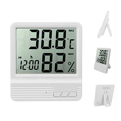 ZYCCW Indoor Digital Hygrometer/Humidity Gauge Thermometer, Room Temperature and Humidity Meter/Monitor/Gauge (White) by ZYCCW