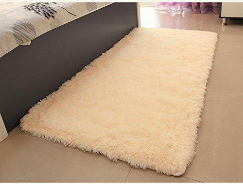 ACTCUT Super Soft Solid Carpet/Floor Rug/ Living room carpet/Area Rug Size: 2.5 Feet X 5 Feet (Beige)