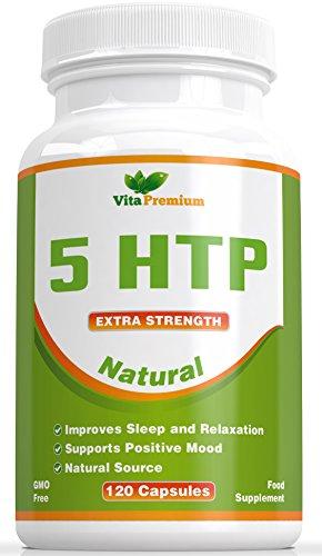 5-HTP 120 Veggie Kapseln - Natürlich, 5 HTP 100mg Helfen den Melatonin und Serotonin-Spiegel zu erhöhen - Fördert den Gesunden Schlaf, die Stimmung Sowie das Entspannen - Fühlen Sie Sich Besser Oder Erhalten Sie das Geld Zurück