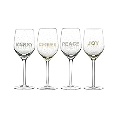 Mikasa Cheers Confetti Wine Goblet, 14-Ounce, Set of 4