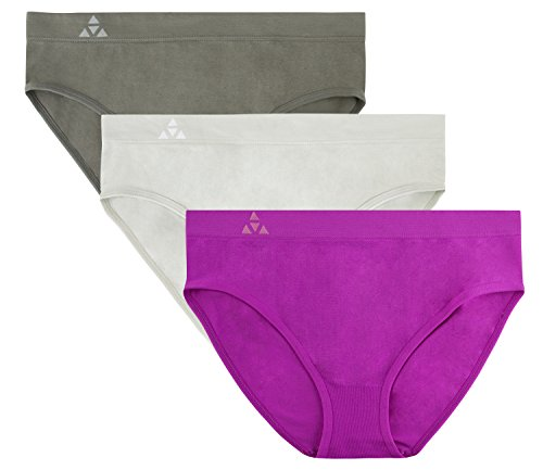 Balanced Tech Women's Seamless Bikini Panties 3 Pack - Mulberry Group - Medium