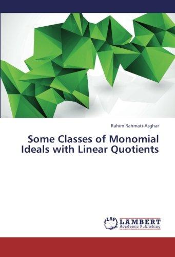 Read Online Some Classes of Monomial Ideals with Linear Quotients PDF