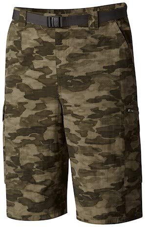 Columbia Men's Silver Ridge Cargo Short, Peat Moss Camo, 40 x 12