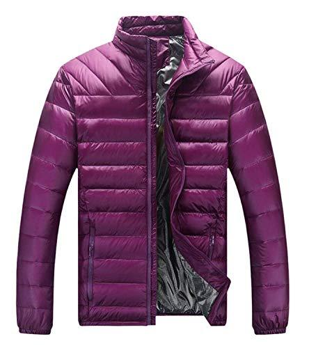 Inverno Rivestimento Sportiva Lila Cappotto Sport Screenes Mens Del Tuta Di Dolcevita Lungo Manica Giù Outwear 5nIIZYp