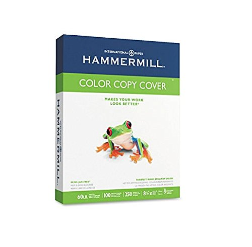 (Hammermill Paper, Premium Color Copy Cover Cardstock 8.5 x 11 Paper, Letter Size, 60lb Paper, 100 Bright, 10 Packs / 2,500 Sheets (122549C) Heavy Paper, Card Stock White)