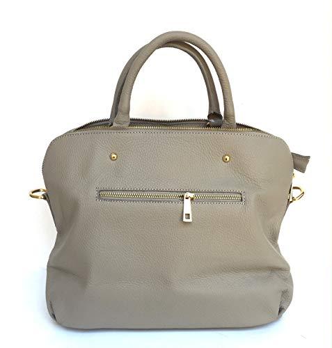 Sac Femme Superflybags en cuir véritable souple Modèle Vgir Made Italy Grey