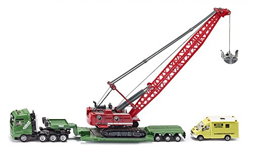 - Siku Heavy Haulage Transporter with Excavator and Service Vehicle