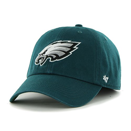 NFL Philadelphia Eagles '47 Brand Franchise Fitted Hat, Pacific Green, Large