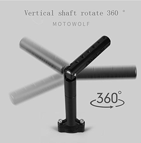 /Verl/ängerung Pole /Aluminiumlegierung por/öse Position kann Rotary Verl/ängerungsstange. /Motorrad/ schwarz St/änder Fahrrad/ Theo Mobile Navigation GPS Support/