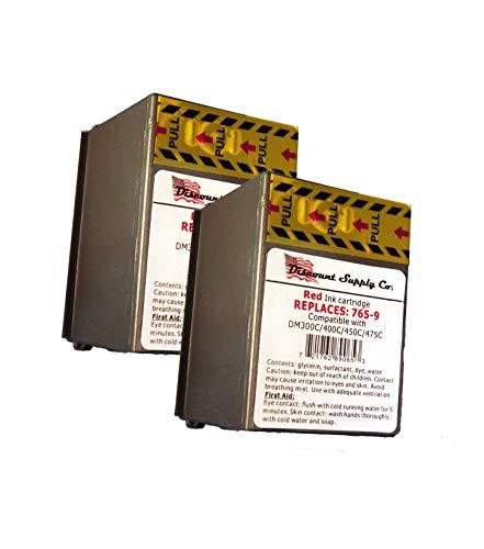Pitney Bowes 765-9 Compatible Red Ink 2-PACK for DM300c, DM400c, DM450c Postage Meters