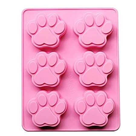 Amazon.com: Cake Molds - Lovely Ice Cube Cake Soap Cookies Chocolate Mould Sweet Multifunction Dog Paw Silicone Mold Molde De - Grandes Rosas Pasteles Mold ...