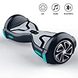 """TOMOLOO Hoverboard with Bluetooth Speaker and LED Light, UL2272 Certified 6.5"""" Two Wheels Electric Self Balancing Hover Boards for Kids and Adult"""