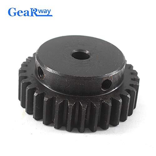 Ochoos 1.5Module 24T Gear Wheel Metal 45Steel Spur Gear Pinion 5/6/8/10/12mm Bore 1.5 Mould 24Teeth Gear Wheel Pulley Rc Pinion Gears - (Number of Teeth: 24 Teeth, Hole Diameter: 8mm)