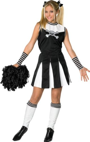 [Drama Queens Bad Spirit Teen Halloween Costume Size 0-2] (Guy Cheerleader Costumes)