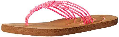 Roxy Women's Antigua Sandal Flip Flop, Coral, 7 M US
