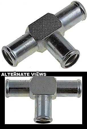APDTY 67498 Metal Universal Heater Hose Tee 5//8