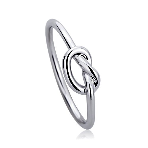 Sterling Silver Plain, Wedding & Engagement Ring Celtic Love Knot Promise Ring 5mm ( Size 2 to 13), 8 - Sterling Silver Double Knot Ring