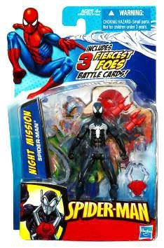 SpiderMan 2010 Series One 3 3/4 Inch Action Figure Night Mission Black SpiderMan