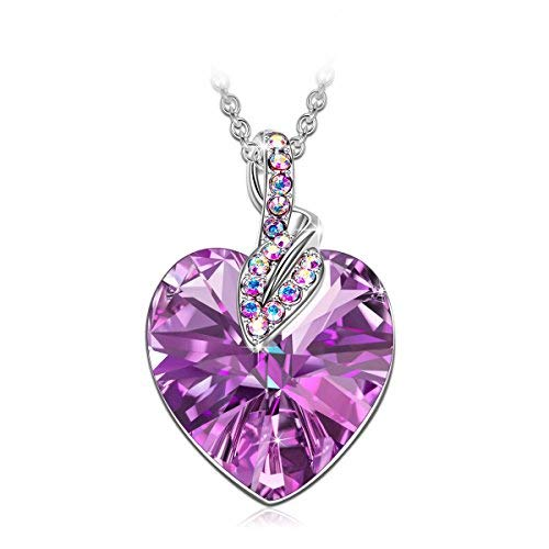 J. RENEÉ Love Heart Necklace for Women, with Crystals from Swarovski, Jewellery for Women, Gifts for Her, Gifts for Women