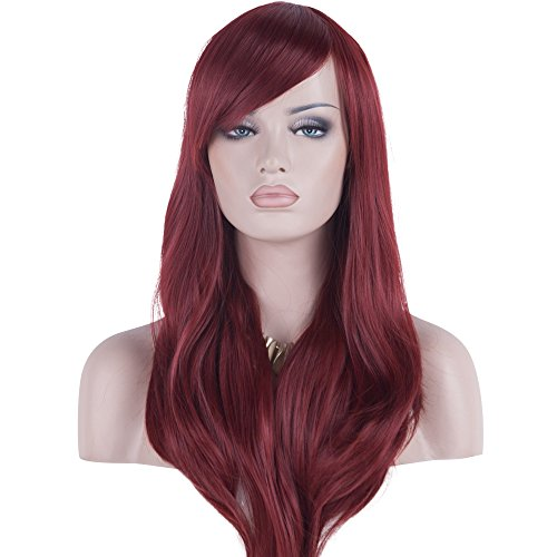 DAOTS 28 Wig Long Heat Resistant Big Wavy Hair Women Cosplay Wig
