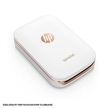 Hp Sprocket Portable Photo Printer, X7n07a, Print Social Media Photos On 2x3 Sticky-backed Paper - White 8