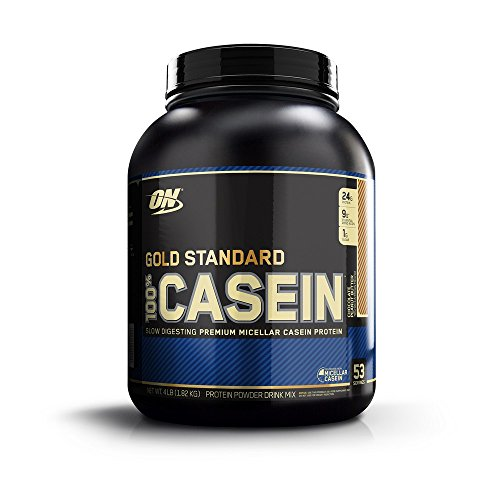 OPTIMUM NUTRITION Gold Standard 100% Micellar Casein Protein Powder, Overnight Muscle Recovery, Chocolate Peanut Butter, 64.1 Ounce (Best Casein Protein Shake)