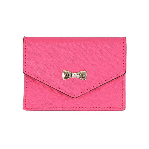 womens-genuine-leather-name-card-holder-card-case-cute-business-card-wallet-hot-pink