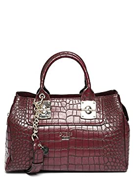 GUESS Frankee Croco Girlfriend Satchel