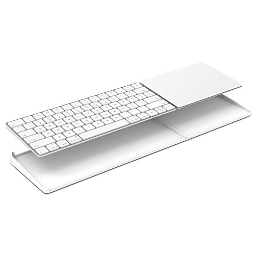 Bestand Stand for Magic Trackpad 2(MJ2R2LL/A) and Apple latest Magic Keyboard(MLA22LL/A) Apple Keyboard and Trackpad NOT Included (White) (Keyboard Trackpad Connect Apple)
