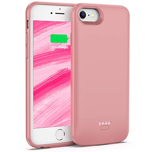Battery Case for iPhone 6 6s, 4000mAh Portable Protective Charging Case for iPhone 6 6s(4.7 inch), Extended Battery Charger Case (Iphone 5 Battery Case Pink)