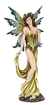 Pacific Giftware Fairyland Collection Fantasy Elemental Fairy – Earth , 12 Inches