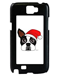 TooLoud Cute Dog with Santa Hat - Christmas Galaxy Note 2 Case