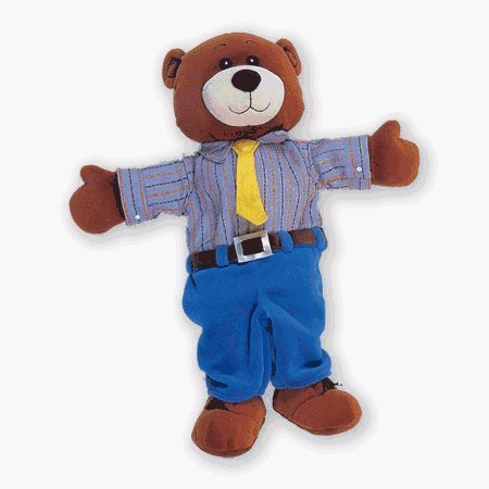 The Original Toy Company T-2262 - Daddy Bear Tellatale Hand Puppet