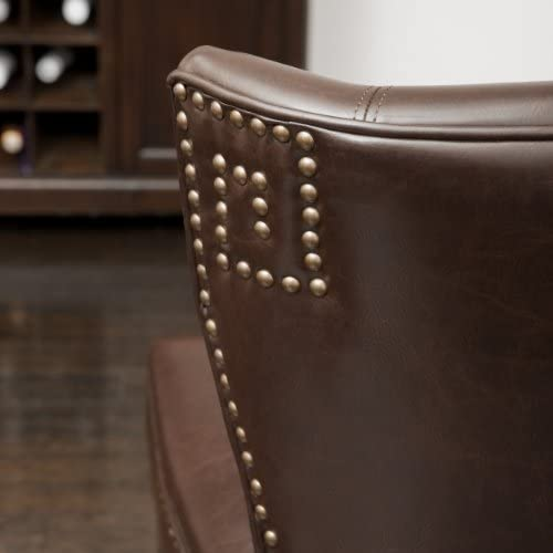 Christopher Knight Home George Brown Leather Dining Chair